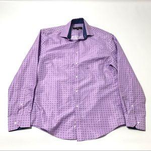 Society Of Threads Mens Slim Fit Dress Shirt S